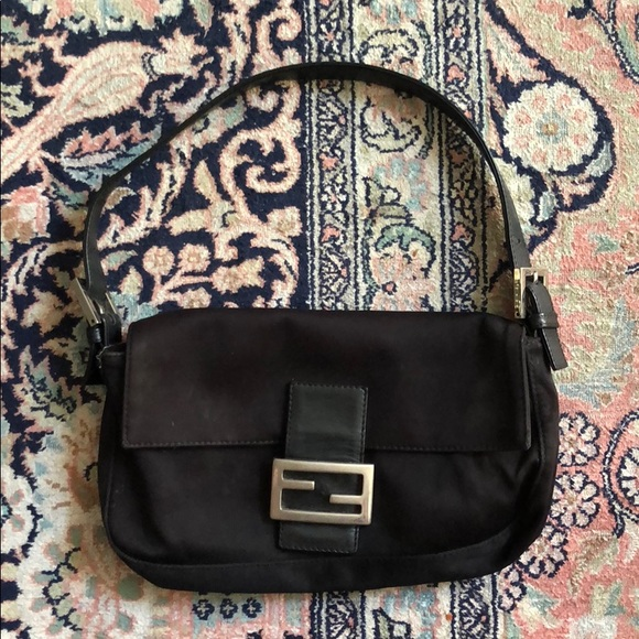 c044d57e4580 Fendi Handbags - FENDI Vintage Black Nylon Baguette Purse